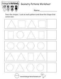 Pattern Worksheets For Kindergarten Pdf Worksheets for all ...