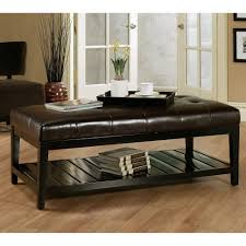 ... Large Size Of Coffee Table:amazing Ottoman Coffee Table Tray Brown  Leather Ottoman Round Leather ...