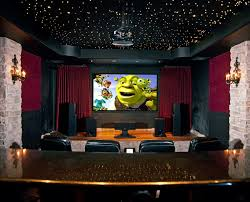 Wonderful Decorating Beautiful Home Theater Room With Ceiling Design Full Of