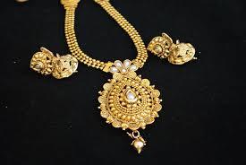imitation traditional mango pearl long haram style necklace set