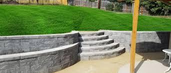 concrete block retaining walls