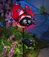 Ladybug Garden Lights Ladybug Garden Stakes Solar Ladybug Lighted Garden Stake