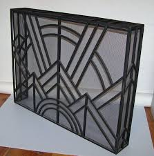 Image Hand Forged Art Deco Fireplace Screens Art Deco Inspired Fire Screen At 1stdibs Pinterest Art Deco Inspired Fire Screen In 2019 Art Deco Fireplaces