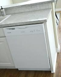 dishwasher with end panel steam vent gap between and countertop new small in breakfast dishes counter