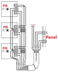 wiring two pir alarm sensors in series confusion help screwfix
