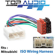 mitsubishi iso wiring harness adaptor cable connector lead loom plug 97 Eclipse Wiring-Diagram image is loading mitsubishi iso wiring harness adaptor cable connector lead