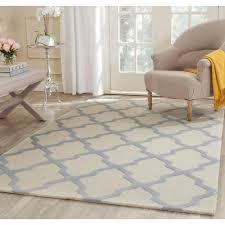 light blue area rug ambiance