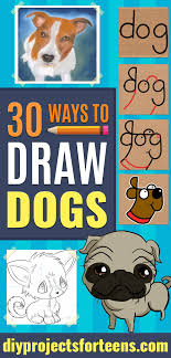 30 ways to draw dogs diy projects for