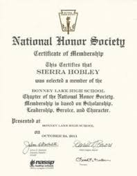 the njhs students national junior honor society at my son s  national honors society essay national honor society certificate of membership sierra hobley