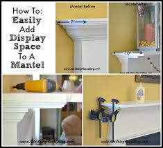 how to easily add display space to a mantel worthingcourtblog com