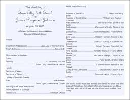 Wedding Program Templates Free Word 8 Word Wedding Program Templates Free Download Free Premium