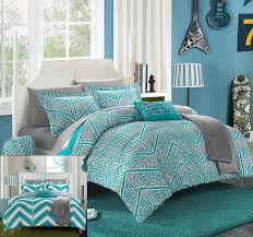 bedding queen size forter sets blue and white bedding mint