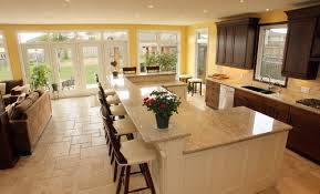 Open Floor Plans U Shaped Kitchen Island Traditional Kitchens by Schnarr  Craftsmen Inc