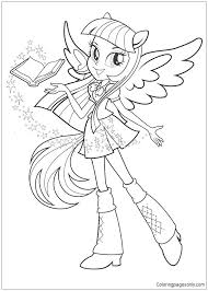 My Little Pony Equestria Girl Printable Coloring Pages At