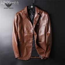 men s leather suits jackets coat outerwear brown black