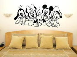 minnie mouse wall decals also wall decor decal cute mickey and decals mouse baby characters