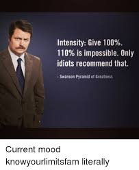 Intensity Give 100 110 Is Impossible Only Idiots Recommend