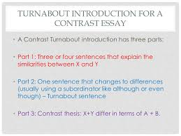 compare contrast introductions ppt  turnabout introduction for a contrast essay