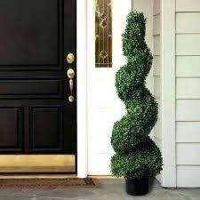 4 ft boxwood spiral topiary tree front door ideas n front door