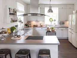 White Stained Wood Kitchen Cabinets Classic And Trendy 23 Gray And White Kitchen Ideas Kitchen Pull
