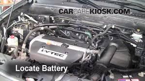 battery replacement 2002 2006 honda cr v 2006 honda cr v se 2 4l Honda G100 Engine Fuel System 2006 honda cr v se 2 4l 4 cyl battery jumpstart