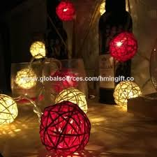 china rattan string lights outdoor garden party patio bistro market cafe hanging ball lamp backyard lights