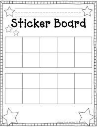 Sticker Reward Chart Pdf Sticker Boards Pdf Classroom Behavior Management