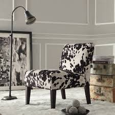 Black and White Faux Cow Hide Fabric Accent Chair by iNSPIRE Q Bold - Free  Shipping Today - Overstock.com - 15416949