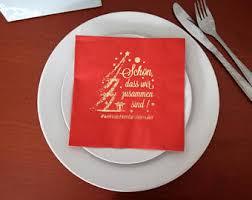 custom personalized napkins. personalized christmas napkins personalisierte servietten weihnachtsservietten weihnacht custom a