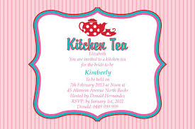 Kitchen Tea Party Invitation Kitchen Tea Party Invitation Ideas