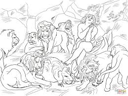 Small Picture Daniel in the Lions Den coloring page Free Printable Coloring Pages