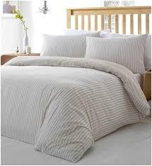 grey ticking stripe duvet cover