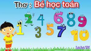 Bài thơ bé học toán - Thơ hay cho bé - Bé tập đếm - La La TV - Dạy bé học - Bé  học toán