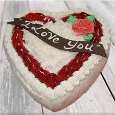 I Love You Heart Shape Vanilla Cake Winni