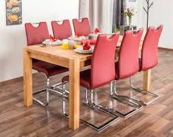 Wooden Nature Esstisch Set 333 Inkl 6 Stühle Rot Buche Massivholz 160 X 90 L X B