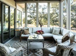 Sunroom Design Ideas Screened Porch Design In Natural Colors Small