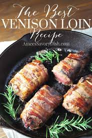applewood bacon wrapped venison loin