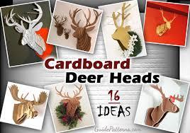cardboard deer head patterns