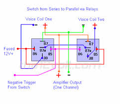 how to wire relays switching from series to parallel and back switching from series to parallel and back