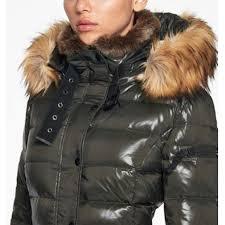S13 Coat Size Chart S13 Faux Fur Trim Hooded Matte Puffer Coat