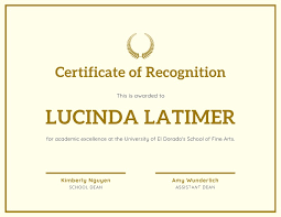 Certificate Recognition Simple Champagne Recognition Certificate Templates By Canva