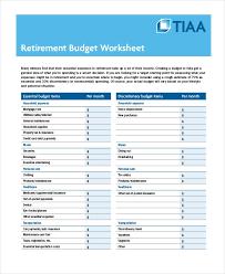 Printable Budget Worksheet 22 Free Word Excel Pdf