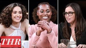 thr full comedy actress roundtable emmy rossum issa rae pamela adlon america ferrera more know your pop culture