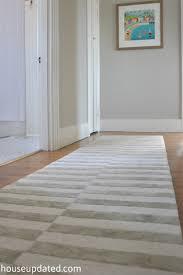 gray white striped rug 1