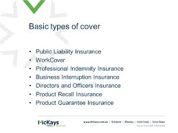7 public liability insurance workcover professional indemnity insurance business interruption insurance directors and officers insurance recall