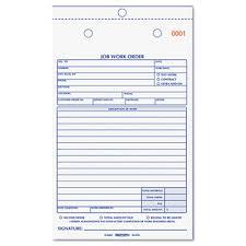 Printable Work Order Forms American Paper Twine Co Rediform Job Work Order Book