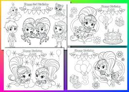 Shimmer And Shine Coloring Shimmer And Shine Coloring Pages