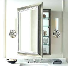 Illuminated cabinets modern bathroom mirrors Lighted Medicine Sliding Door Mirror Wall Cabinet Bathroom And Bunnings Hemling Interiors Roper Recessed Illusion Cabinet With Integrated Lighting Bathroom