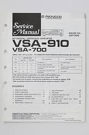 sony ta sa300wr surround amplifier w wireless card what s it worth pioneer vsa 910 700 av surround amplifier original service manual wiring diagram