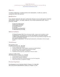 resume for restaurant restaurant resume
